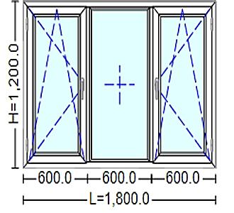Ferestre Termopan cu tamplarie PVC 20 / 180