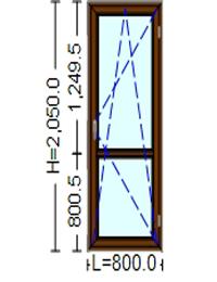 Ferestre Termopan cu tamplarie PVC 205 / 80