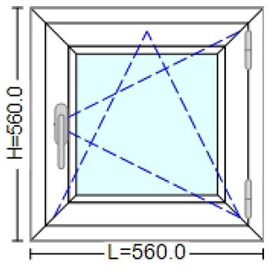 Ferestre Termopan 56 / 56 cm. Poza 1
