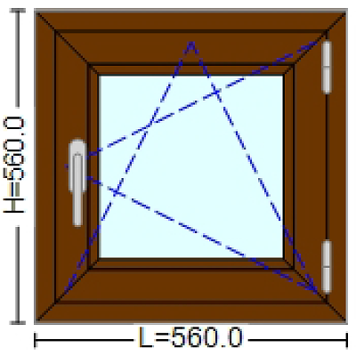 Geamuri Termopan cu tamplarie PVC 56 / 56 cm. Poza 2