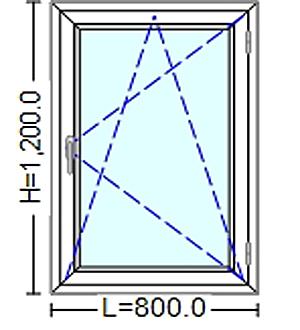 Ferestre Termopan cu tamplarie PVC  20 / 80