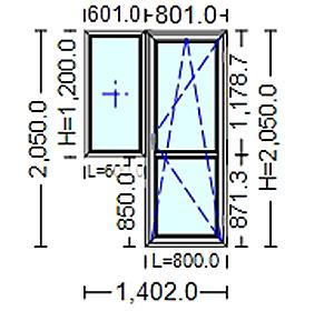 poza Usi si ferestre Termopan cu tamplarie PVC 2050 / 1400 mm