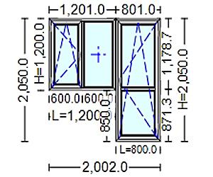 poza Usi si ferestre Termopan cu tamplarie PVC 2050 / 2000 mm