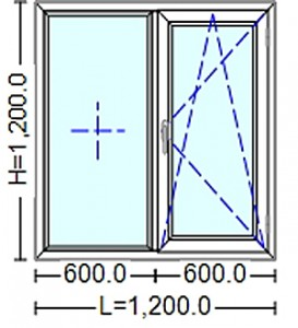 poza Ferestre Termopan cu tamplarie PVC 1200 / 1200 mm
